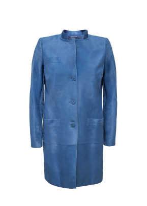 BLUE CALFSKIN LEATHER COAT-front.jpeg