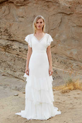 savannah-miller-flutter-sleeve-wedding-dress-spring-2019