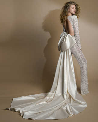 Gala by Galia Lahav-bow-jumpsuit-wedding-spring-2019
