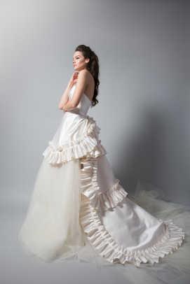 Ruffled Wedding Gowns 72 Vintage randi rahm fall wedding
