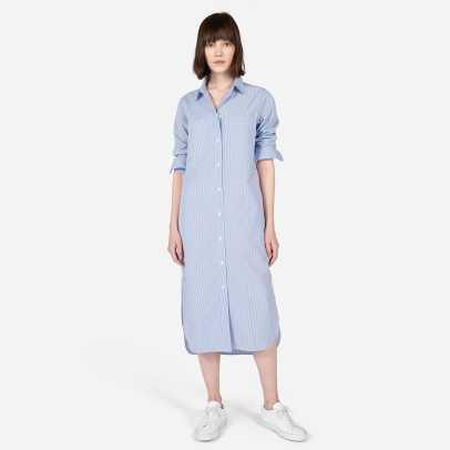 everlane blue shirt dress