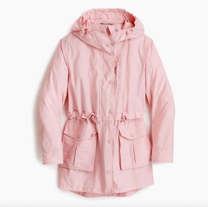jcrew raincoat