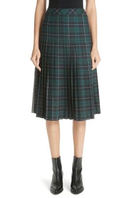 sandy-liang-pleated-plaid-uniform-skirt