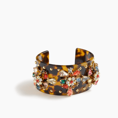 jcrew crystal studded lucite cuff