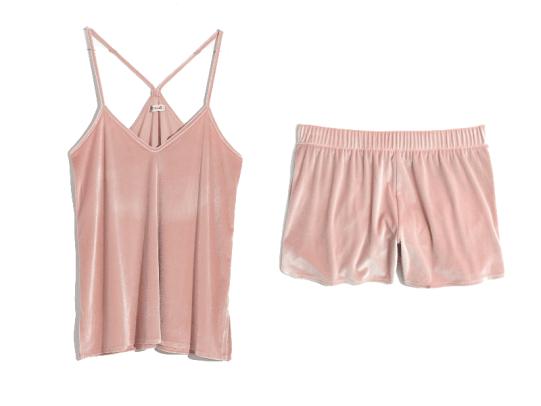madewell-velvet-pajama-set