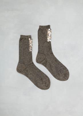 rachel comey metallic beaded socks