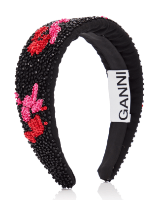 ganni bead embellished headband