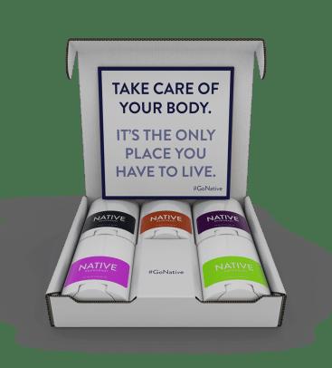 native deodorant travel pack
