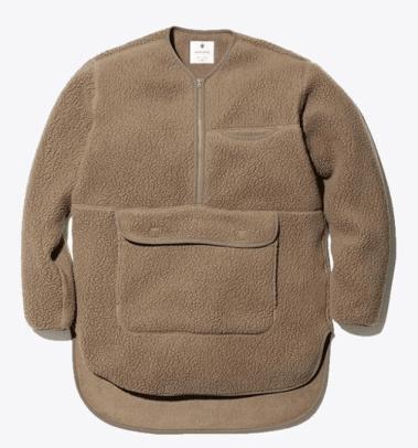 snow peak classic fleece pullover