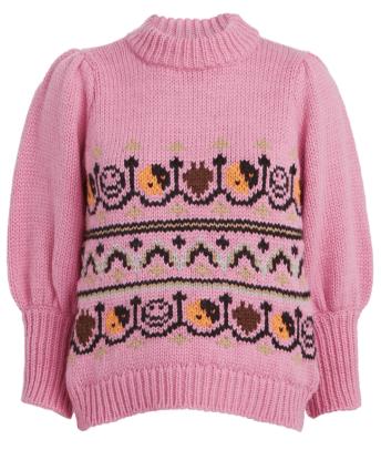 ganni puff sleeve knit