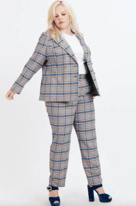 tanya taylor plaid suit