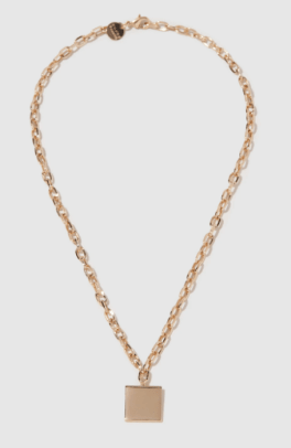 young frankk square chain necklace