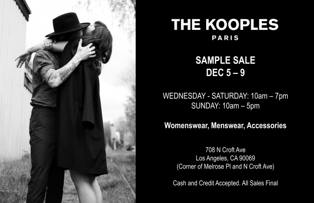 The Kooples Sample Sale x Eclipse - Invitation-1