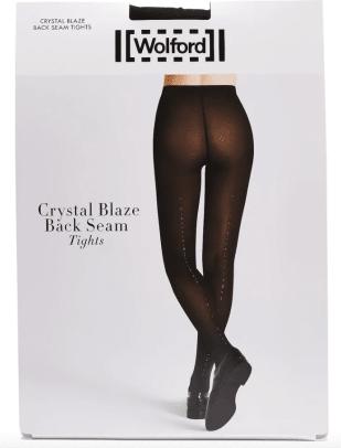 wolford crystal affair back seam tights