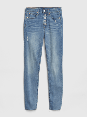 4_GAP HIGH RISE SKINNY JEANS LIGHT INDIGO