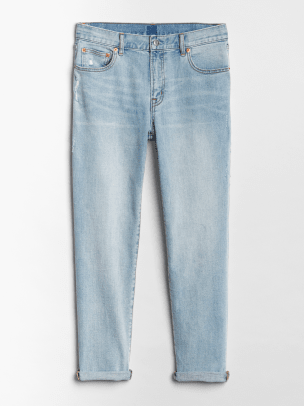 4_GAP MID RISE GIRLFRIEND JEANS