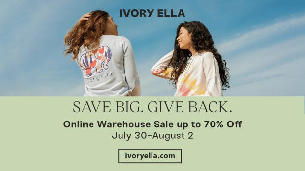 Ivory Ella online warehouse flyer
