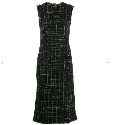 Thom Browne Tweed Pencil Dress Farfetch