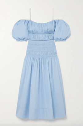self portrait blue dress