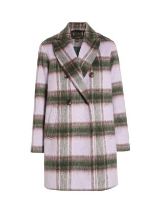 Halogen Plaid Brushed Coat Nordstrom