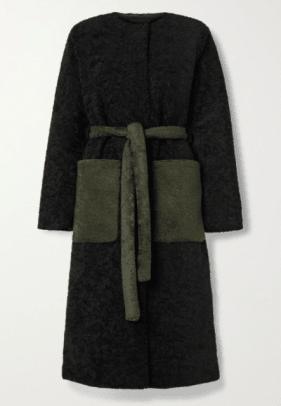 Stine Goya Matty belted two-tone faux fur coat net-a-porter