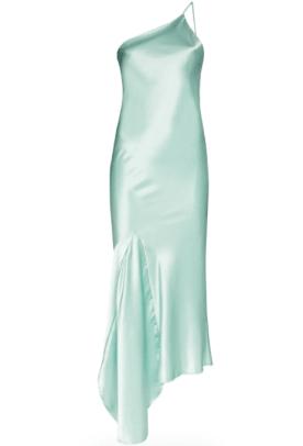 N Duo asymmetric satin slip dress Farfetch