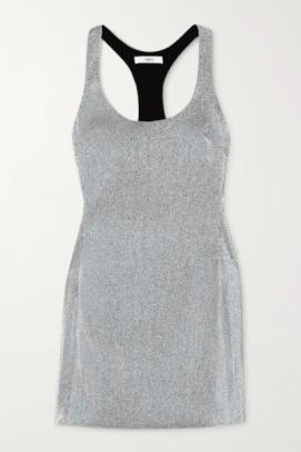 AREA Lamé mini dress Net-a-Porter