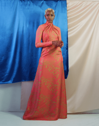 Aliette Azur Wrap Dress