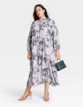 A New Day Women's Long Sleeve Tiered Dress Target