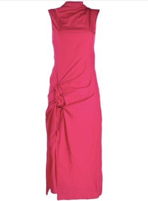 off white dna spiral dress
