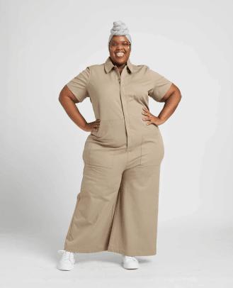 khaki jumpsuit plus size
