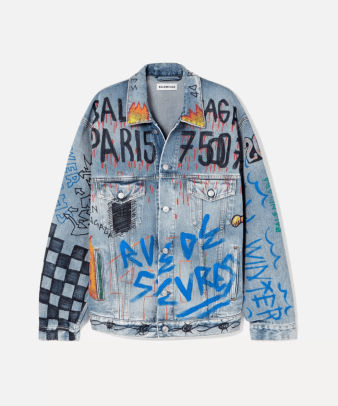 balenciaga painted jacket