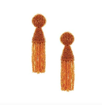 oscar de la renta tassel clip on earrings