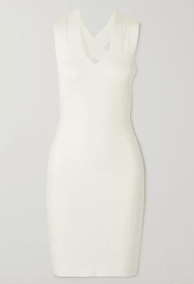 Hervé Leger Open-back bandage mini dress Netaporter