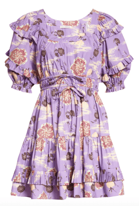 Ulla Johnson Naomi Floral Cotton Dress Nordstrom