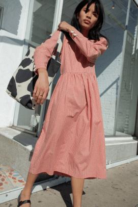 Lisa Says Gah Maddie Midi Dress Long Sleeve