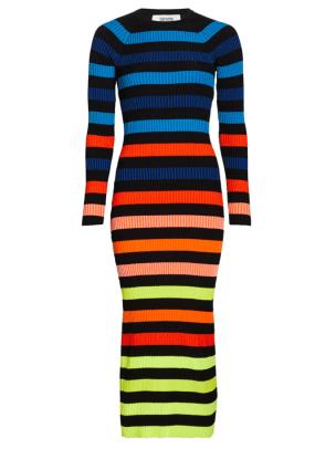 CJR Rainbow Striped Dress Saks Fift Avenue
