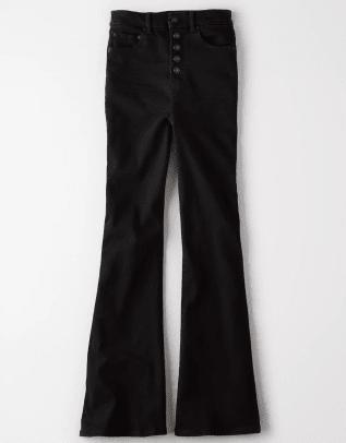 AE Ne(X)t Level Curvy Highest Waist Flair Jean in Bold Black