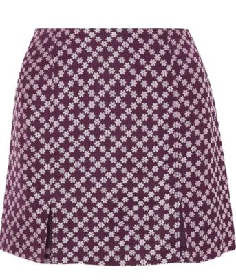 alexachung floral jacquard mini skirt