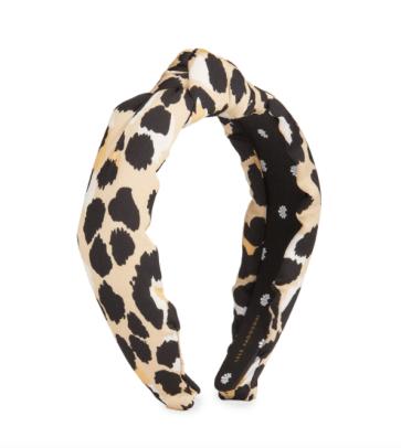 lele sadoughi leopard headband
