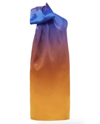 Halpern One Shoulder Degrade Organza Dress MatchesFashion