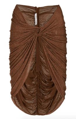 LaQuan Smith Twist Wrap Mini Skirt