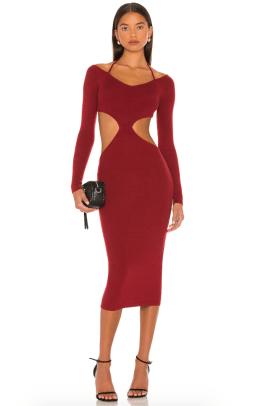 NBD Yael Cut Out Halter Dress Revolve