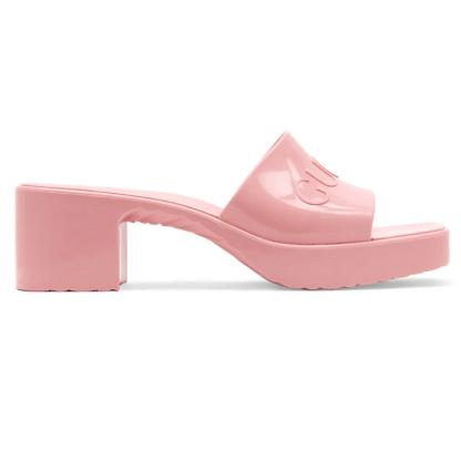 Gucci Women's Rubber Slide Sandals Saks