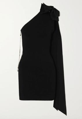 AZ Factory MyBody one-shoulder bow-detailed stretch-knit mini dress