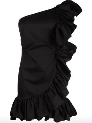 Merci one-shoulder ruffled dress