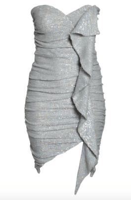 Lavish Alice Ruffle Ruched Sequin Dress Nordstrom