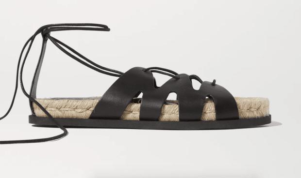 3.1 Phillip Lim + Space for Giants Yasmine leather espadrille sandals Netaporter