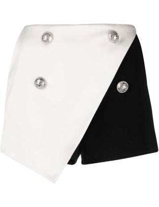 Balmain two-tone wraparound skort Farfetch