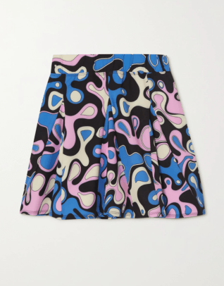 YEAR OF OURS Splash printed stretch tennis skirt Net aPorter